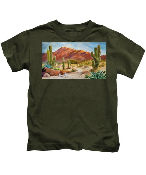 Trail To The San Tans Kids T-Shirt