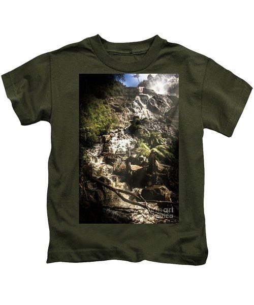 Tranquil Mountain Canyon Kids T-Shirt
