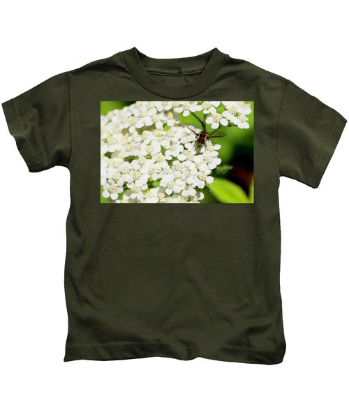 Transverse Flower Fly Kids T-Shirt
