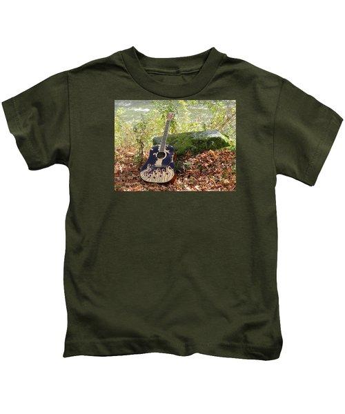 Traveling Musician Kids T-Shirt