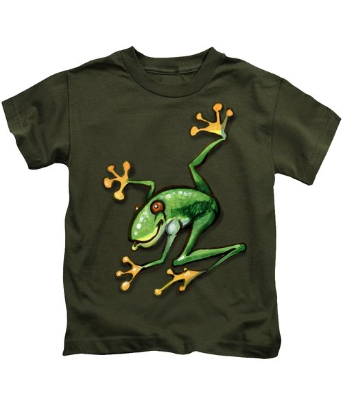 Tree Frog Kids T-Shirt by Kevin Middleton