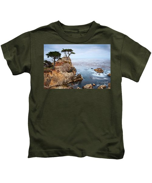 Tree Of Dreams - Lone Cypress Tree At Pebble Beach In Monterey California Kids T-Shirt