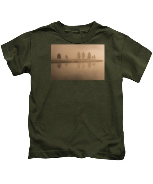 Trees And Fog Kids T-Shirt