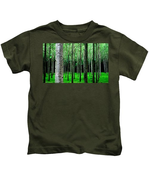 Trees In Rows Kids T-Shirt