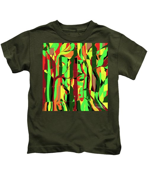 Trees In The Garden Kids T-Shirt