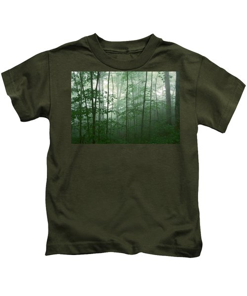 Trees In The Mist Kids T-Shirt