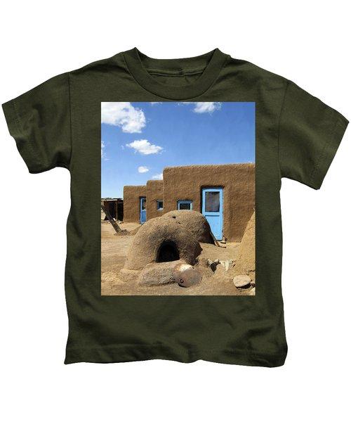 Tres Casitas Taos Pueblo Kids T-Shirt