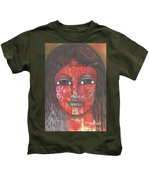 Tribal Woman Kids T-Shirt