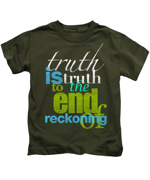 Michael Jackson Truth Is Truth Kids T-Shirt by D Francis