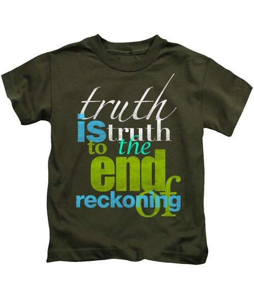 Michael Jackson Truth Is Truth Kids T-Shirt
