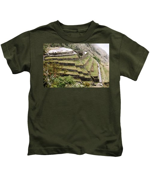 Tucked In A Mountain Kids T-Shirt