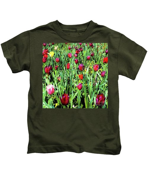 Tulips Blooming Kids T-Shirt