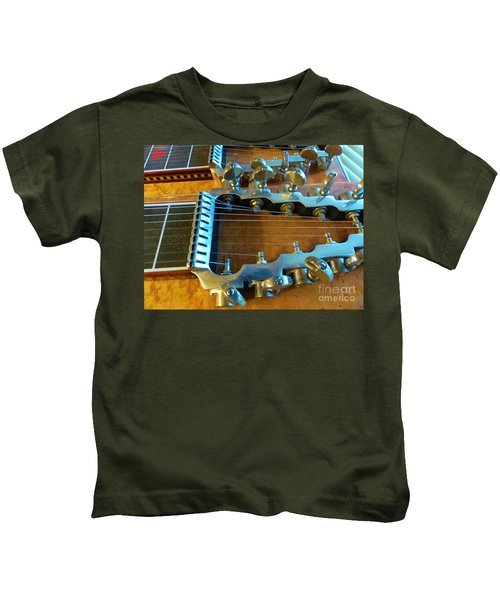 Tuning Pegs On Sho-bud Pedal Steel Guitar Kids T-Shirt