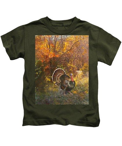 Turkey In The Woods Kids T-Shirt