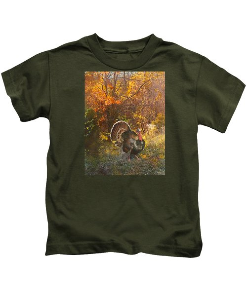 Turkey In The Woods Kids T-Shirt