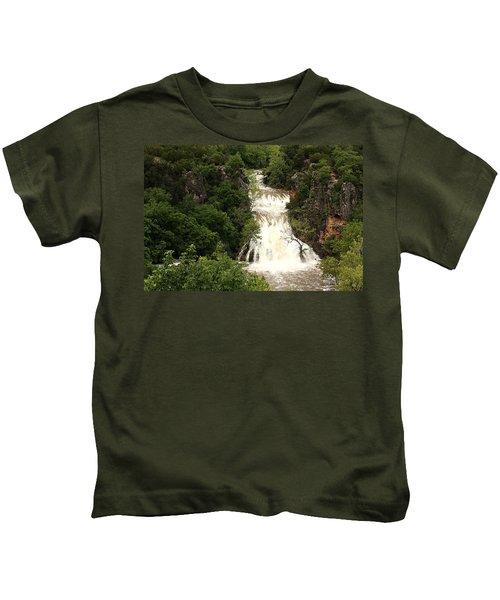 Turner Falls Waterfall Kids T-Shirt