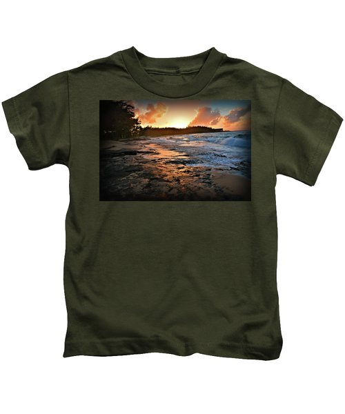 Turtle Bay Sunset 1 Kids T-Shirt