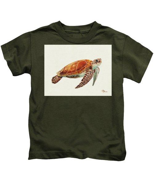 Turtle Watercolor Kids T-Shirt