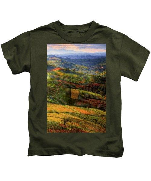 Tuscany, Italian Wineyards  Kids T-Shirt