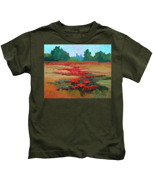 Tuscany Poppy Field Kids T-Shirt