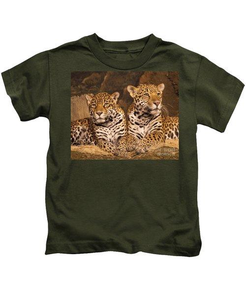 Twin Cheetahs Kids T-Shirt