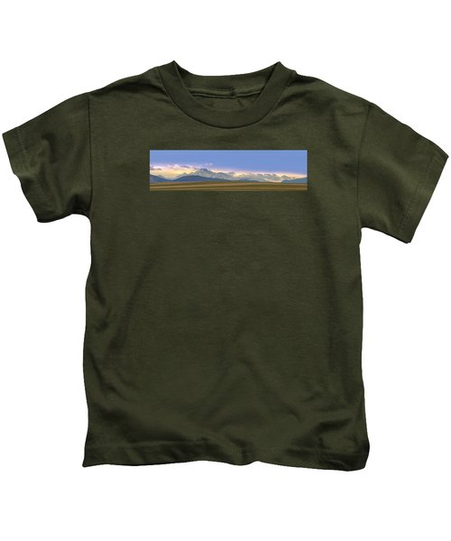 Twin Peaks Panorama View From The Agriculture Plains Kids T-Shirt