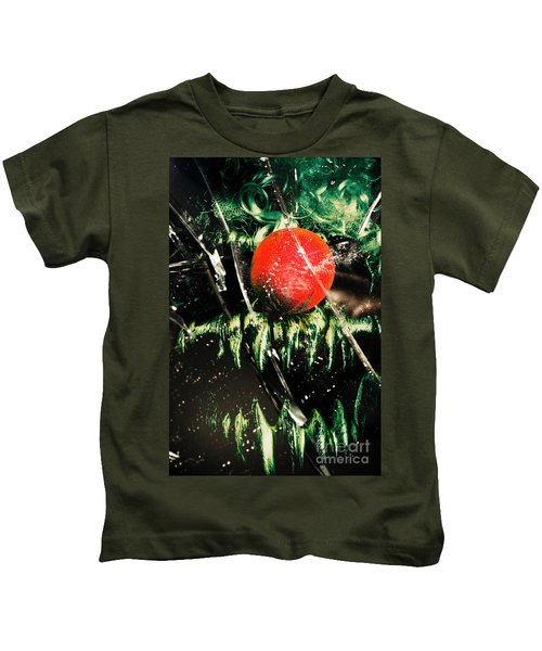 Twisted Evil Clown Portrait Kids T-Shirt