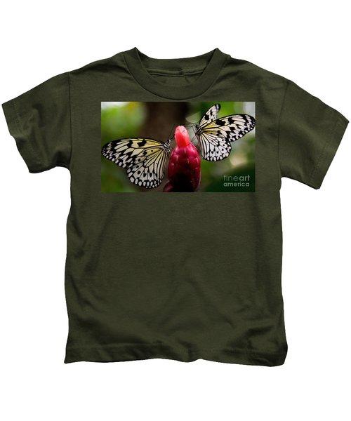 Two Butterflies Kids T-Shirt