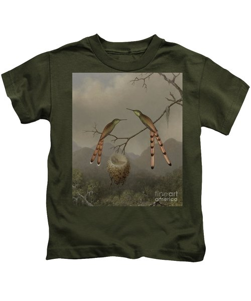 Two Hummingbirds With Their Young Kids T-Shirt