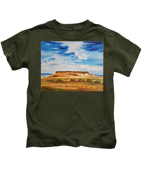 Ulm Montana First People's Buffalo Jump   93 Kids T-Shirt