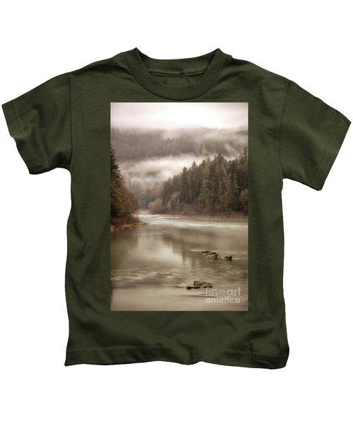 Umpqua River Fog Kids T-Shirt