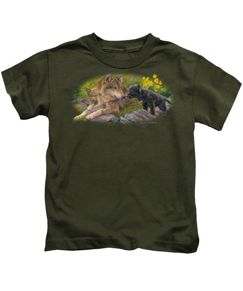 Unconditional Love Kids T-Shirt by Lucie Bilodeau