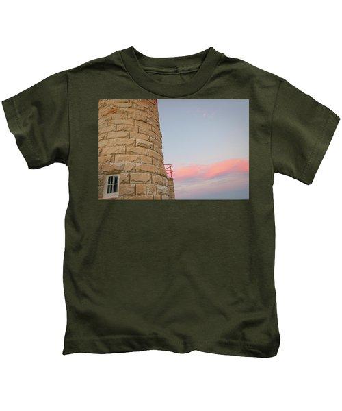 Close-up Detail Of The Cape Moreton Lighthouse Kids T-Shirt