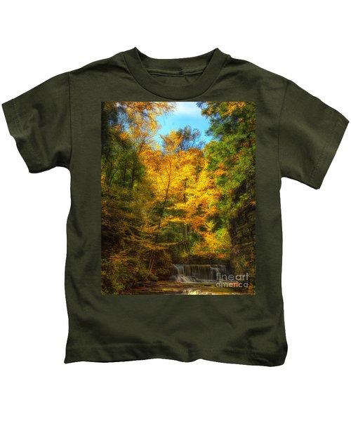 Upper Pinnacle Falls Kids T-Shirt