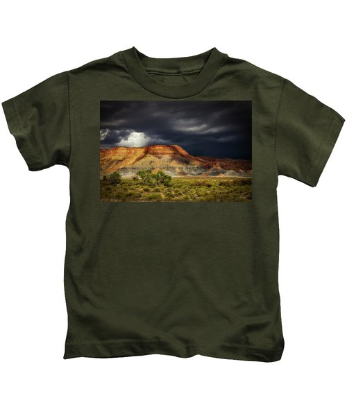 Utah Mountain With Storm Clouds Kids T-Shirt