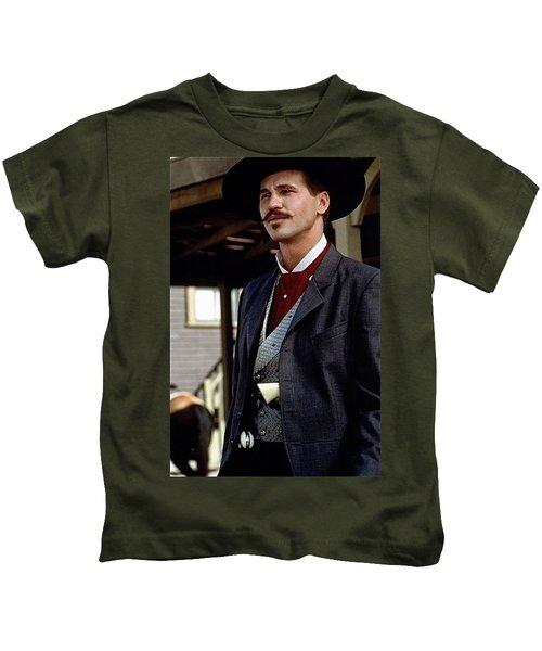 Val Kilmer As Doc Holliday Tombstone Set 1993-2015 Kids T-Shirt