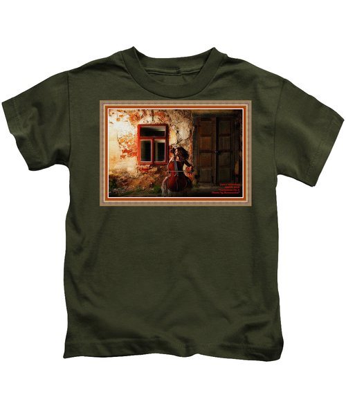 Variations On A Theme By Bonnoncini L A With Decorative Ornate Printed Frame. Kids T-Shirt