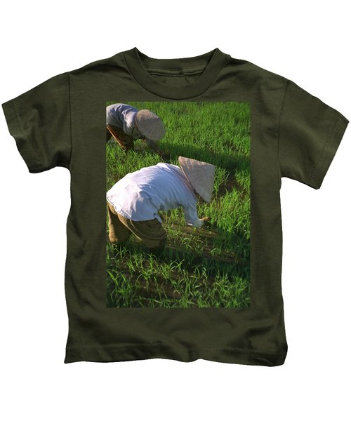 Vietnam Paddy Fields Kids T-Shirt