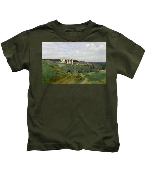 View Of The Chateau De Pierrefonds Kids T-Shirt