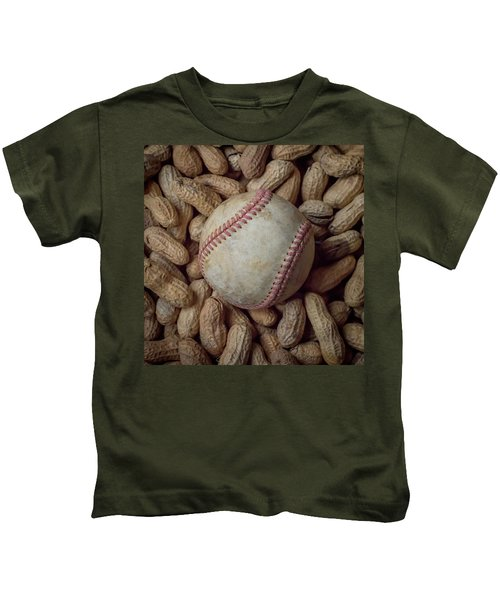 Vintage Baseball And Peanuts Square Kids T-Shirt