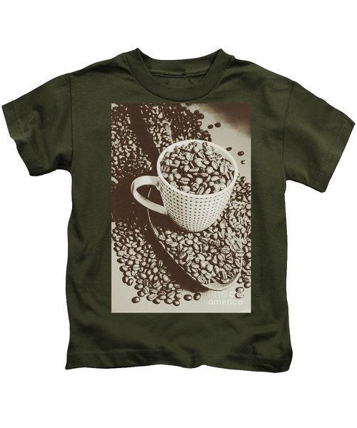 Vintage Coffee Art. Stimulant Kids T-Shirt