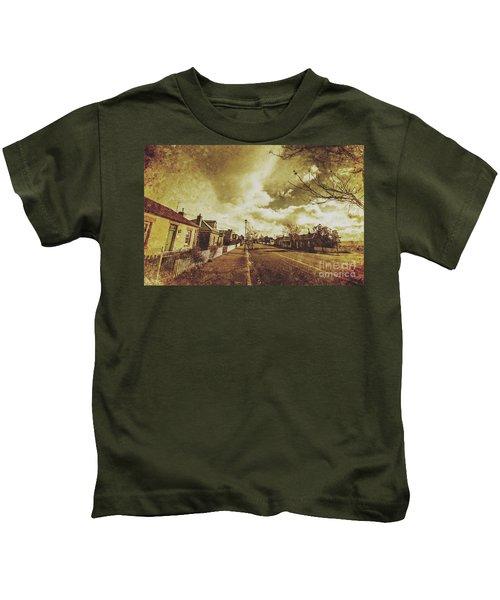 Vintage Colonial Street Kids T-Shirt
