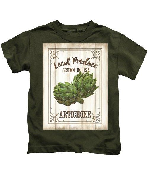 Vintage Fresh Vegetables 2 Kids T-Shirt by Debbie DeWitt