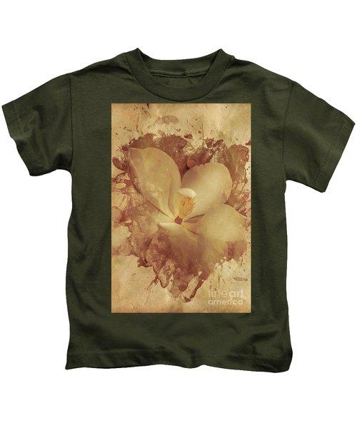 Vintage Paper Magnolia Kids T-Shirt