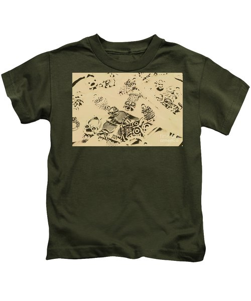 Vintage Toned Owls Kids T-Shirt
