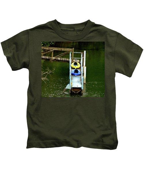 Waiting To Kayak Kids T-Shirt