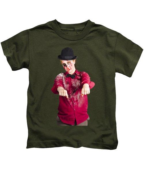 Walking Dead Zombie Woman Kids T-Shirt