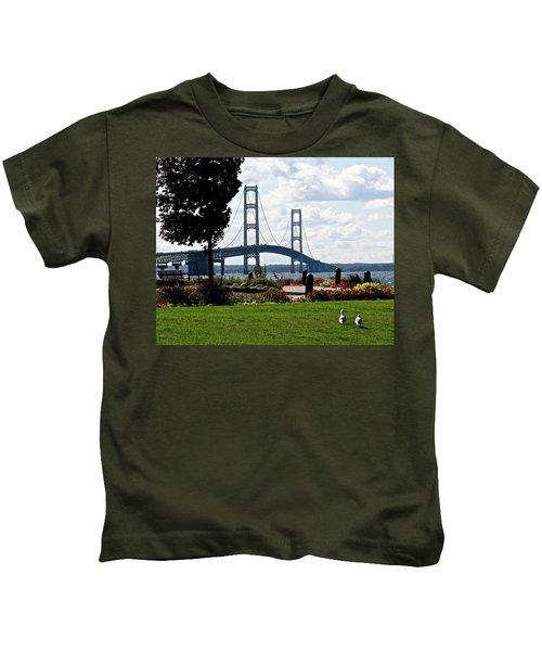 Walking To The Bridge Kids T-Shirt
