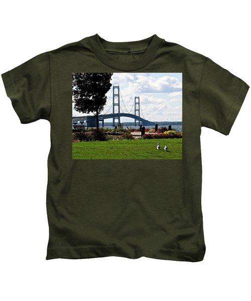Walking To The Bridge Kids T-Shirt