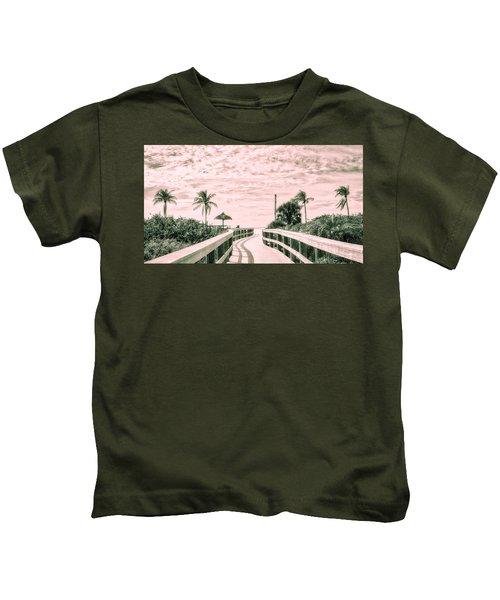 Walkway To The Beach Kids T-Shirt
